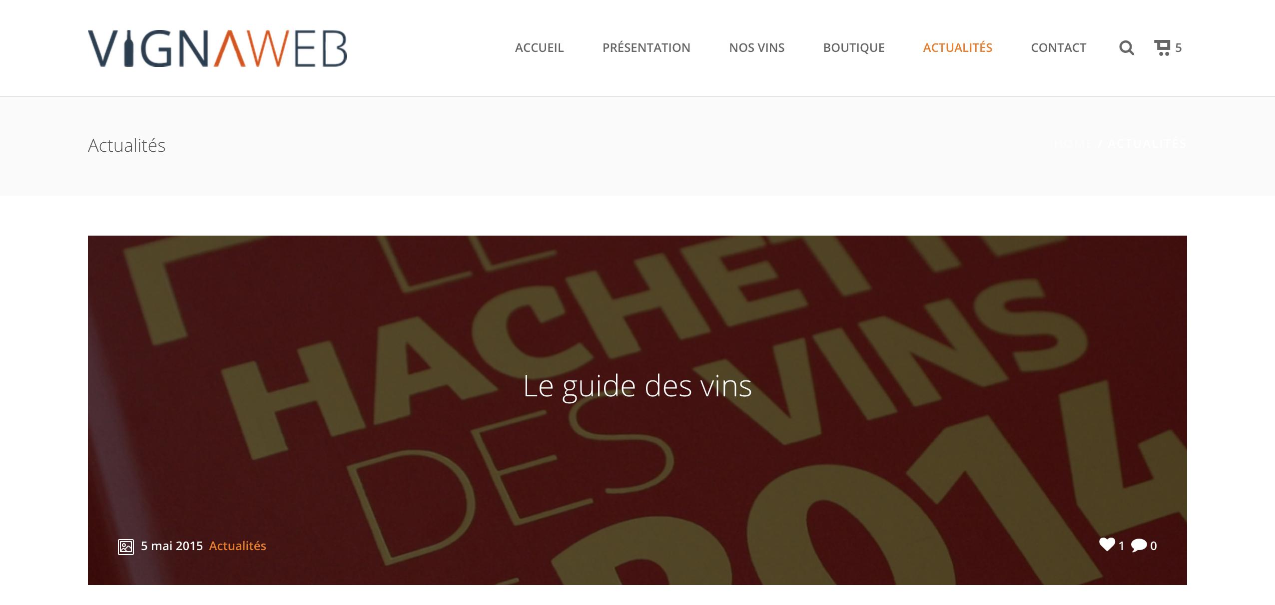 site internet pour vigneron demo